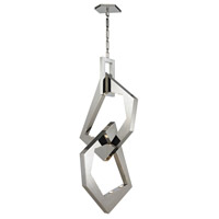 Links 12 Light 32 inch Polished Stainless Steel with Polished Nickel Pendant Ceiling Light