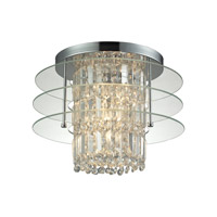 Zoey 3 Light 16 inch Polished Chrome Semi Flush Ceiling Light