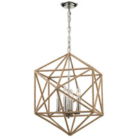 Exitor 4 Light 23 inch Polished Nickel Chandelier Ceiling Light
