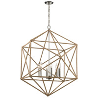 Exitor 6 Light 34 inch Polished Nickel Chandelier Ceiling Light