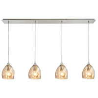 ELK 31595/4LP Marchland 4 Light 46 inch Satin Nickel Linear Pendant Ceiling Light