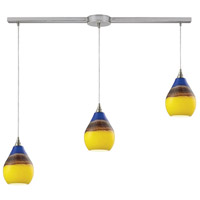 Dunes 3 Light 36 inch Satin Nickel Pendant Ceiling Light