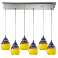 Dunes 6 Light 30 inch Satin Nickel Pendant Ceiling Light