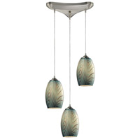 Tidewaters 3 Light 10 inch Satin Nickel Pendant Ceiling Light