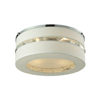ELK Lighting Regis 4 Light Semi Flush in Polished Chrome with White Fabric Shade 31625/4