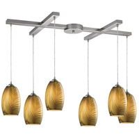 Tidewaters 6 Light 33 inch Satin Nickel Pendant Ceiling Light
