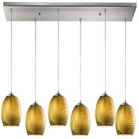 Tidewaters 6 Light 30 inch Satin Nickel Pendant Ceiling Light