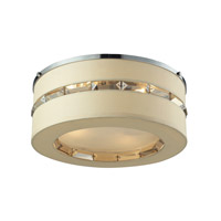 ELK Lighting Regis 4 Light Semi Flush in Polished Chrome with Beige Fabric Shade 31635/4