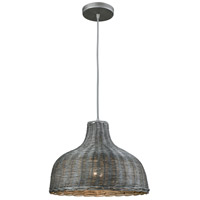 ELK 31641/1 Pleasant Fields 1 Light 14 inch Weathered Grey Pendant Ceiling Light