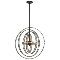 Crystal Orbs 6 Light 24 inch Oil Rubbed Bronze Pendant Ceiling Light