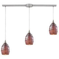 ELK 31668/3L Vines 3 Light 36 inch Satin Nickel Linear Pendant Ceiling Light in Linear with Recessed Adapter