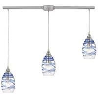 ELK 31742/3L Vines 3 Light 36 inch Satin Nickel Pendant Ceiling Light in Linear with Recessed Adapter