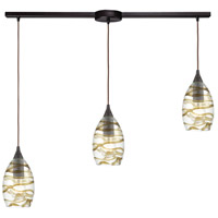 ELK 31752/3L Vines 3 Light 36 inch Oil Rubbed Bronze Pendant Ceiling Light in Linear with Recessed Adapter