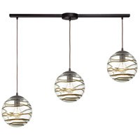 ELK 31753/3L Vines 3 Light 36 inch Oil Rubbed Bronze Pendant Ceiling Light in Linear with Recessed Adapter