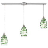 ELK 31762/3L Vines 3 Light 36 inch Satin Nickel Pendant Ceiling Light in Linear with Recessed Adapter