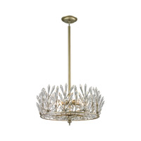 ELK Lighting Viva Natura 5 Light Semi Flush in Aged Silver 31774/5