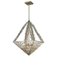 ELK Lighting Viva Natura 6 Light Pendant in Aged Silver 31776/6