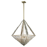 ELK Lighting Viva Natura 8 Light Pendant in Aged Silver 31777/8