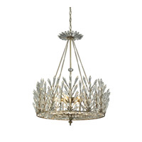 Viva Natura 6 Light 23 inch Aged Silver Chandelier Ceiling Light