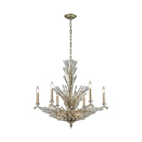 Viva Natura 9 Light 30 inch Aged Silver Chandelier Ceiling Light