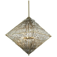 Viva Natura 8 Light 25 inch Aged Silver Chandelier Ceiling Light