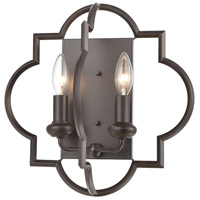 Chandette 2 Light 14 inch Oil Rubbed Bronze Sconce Wall Light