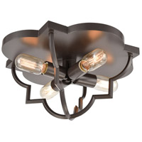 ELK 31789/4 Chandette 4 Light 16 inch Oil Rubbed Bronze Flush Mount Ceiling Light