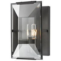 ELK Lighting Garrett 1 Light Sconce in Oil Rubbed Bronze with Clear Crystal Shade 31790/1