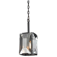 ELK Lighting Garrett 1 Light Pendant in Oil Rubbed Bronze with Clear Crystal Shade 31791/1