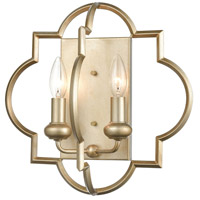 Chandette 2 Light 14 inch Aged Silver Sconce Wall Light