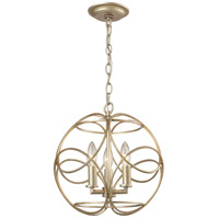 ELK Lighting Chandette 3 Light Pendant in Aged Silver 31801/3