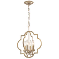 Chandette 4 Light 14 inch Aged Silver Pendant Ceiling Light