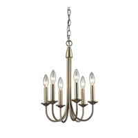 Chandette 6 Light 12 inch Aged Silver Chandelier Ceiling Light
