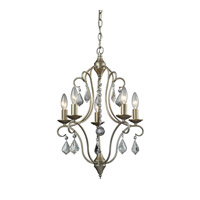 ELK Lighting Chandette 5 Light Chandelier in Aged Silver 31804/5