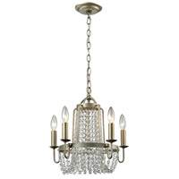 Chandette 5 Light 15 inch Aged Silver Chandelier Ceiling Light
