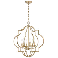 ELK 31808/6 Chandette 6 Light 22 inch Aged Silver Pendant Ceiling Light