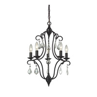 ELK Lighting Chandette 5 Light Chandelier in Oil Rubbed Bronze 31814/5