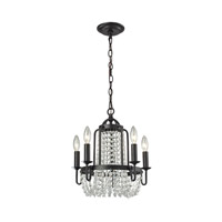 ELK Lighting Chandette 5 Light Chandelier in Oil Rubbed Bronze 31815/5