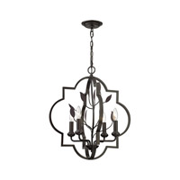 Elk Lighting Chandette 4 Light Chandelier in Oil Rubbed Bronze 31816/4