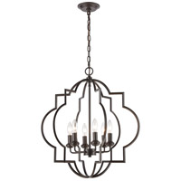 ELK 31818/6 Chandette 6 Light 22 inch Oil Rubbed Bronze Pendant Ceiling Light
