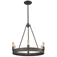 ELK 31820/6 Lewisburg 6 Light 21 inch Malted Rust Chandelier Ceiling Light
