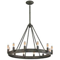 Lewisburg 12 Light 27 inch Malted Rust Chandelier Ceiling Light