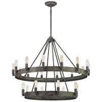 Lewisburg 22 Light 32 inch Malted Rust Chandelier Ceiling Light
