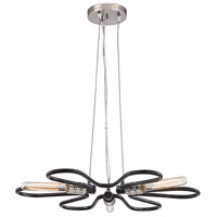 Continuum 3 Light 24 inch Silvered Graphite,Polished Nickel Chandelier Ceiling Light