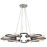 Elk Lighting Continuum 8 Light Chandelier in Silvered Graphite,Polished Nickel 31903/8