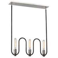 Continuum 3 Light 23 inch Silvered Graphite,Polished Nickel Chandelier Ceiling Light