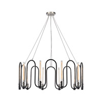 ELK 31908/10 Continuum 10 Light 38 inch Silvered GraphitePolished Nickel Chandelier Ceiling Light