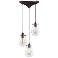 Jaelyn 3 Light 10 inch Oil Rubbed Bronze Pendant Ceiling Light