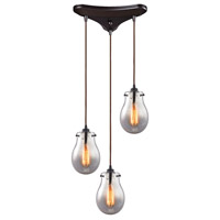Jaelyn 3 Light 11 inch Oil Rubbed Bronze Pendant Ceiling Light