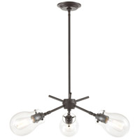 ELK 31937/3 Jaelyn 3 Light 27 inch Oil Rubbed Bronze Chandelier Ceiling Light